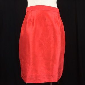 Vintage 80s Rina Rossi Tomato Red Pencil Skirt
